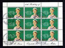 Gibraltar 1980 gestempelt Kleinbogen Satz MNr. 408 Königinmutter Elisabeth