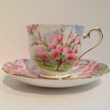 Royal Albert China Tea Cup & Saucer BLOSSOM TIME Pink Flowers Trees England