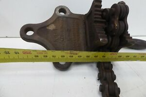 """VINTAGE ENGINEERS RECORD FORGED STEEL BENCH PIPE CHAIN VICE CLAMP NO 181 1/8"""" 2"""""""