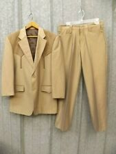 Euc Vtg Laredo Brown Microsuede Mens Western Cut Suit: Blazer 38R; Pants 32/28.5