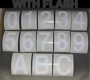 House/Letter Box Numbers Reflective Stickers 3M Class 2