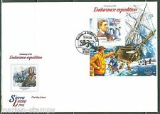 SIERRA LEONE 2015 CENTENARY OF THE ENDURANCE EXPEDITION SHACKLETON S/S FDC