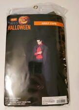 Happy Halloween Adult Black Cape Costume