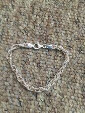 Hallmarked 925 Silver Fancy Bracelet