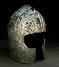 2MM Silver Chrome Medieval Bascinet Helmet Knight Historical Helmet ZH001