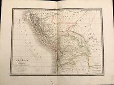 CARTE DU PÉROU ET DU HAUT PÉROU 1829