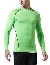 Tesla Men's Long Sleeve Baselayer lightening green  r11 uk s eu 46