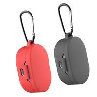 2x Silikonschutzhülle für MI Redmi AirDots Kopfhörer Rot + Grau