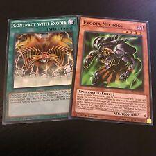 YUGIOH TCG: EXODIA NECROSS + CONTRACT WITH EXODIA - 2-CARD SET - COMMON LDK2