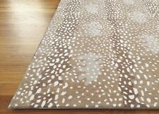 Antelope Area Rug Handmade Stark Like Design Tufted 100% Wool 3x5 5x8 8x10 9x12