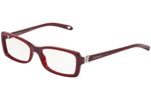 New Tiffany & Co. TF2091-B 8152 53mm Maroon Red Eyeglasses Frames Only No Lens