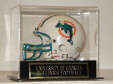 Football Mini Helmet Display Case with a Georgia Bulldogs Engraved Nameplate