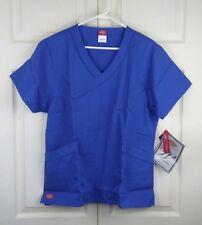 Dickies Medical Uniforms Scrubs 2 Pocket Top RN#107295 Blue NWT Size L    (U008)