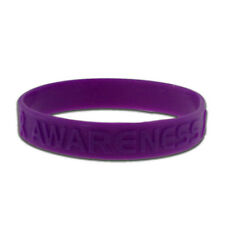 PinMart's Purple Domestic Violence Awareness Rubber Silicone Bracelet