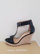 MICHAEL Michael Kors Women's Espadrille Leather Wedge Sandal Size 6 NIB