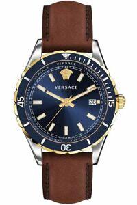 Versace Men's Watch VE3A00420 Leather Swiss Made Brand Watch Wristwatch New