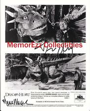 DRAGONHEART Dennis Quaid & Dina Meyer SIGNED Autograph 8x10 B&W Photo