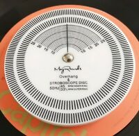 """MAY RECORDS 3"""" Strobe Disc Turntable Tachometer SMALL Record Player Setup Tool"""
