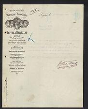 """LYON (69) QUINCAILLERIE pour MEUBLES & BATIMENT """"THIVEL & BEREZIAT"""" en 1907"""