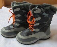Winterstiefel Gr.33 NEU Kinder Jungen Boots Stiefel grau orange Schnürsenkel