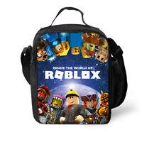 Game Roblox Print Shoulder School Bag Handbag Lunch Bag Purse Satchel Messenger