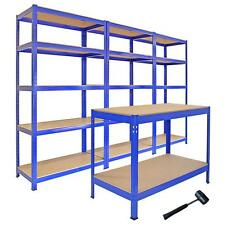 3 t-rax ACCIAIO Racking GARAGE scaffalature 5 livelli Scaffali Rack campate Workbench