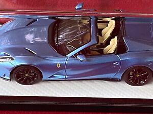 1/43 BBR Ferrari 812 GTS Blue Azzuro California Geneva 2021 Limited 1/1.  AS-IS