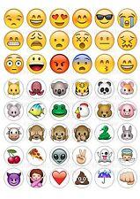 48 emoji oblea/De Papel De Arroz Cupcake Topper Comestible Hada Cake Bollo Toppers