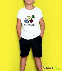 Among Us You Look SUS Bro Kids T-Shirt Gaming Gamer YouTube