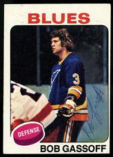 1975-76 TOPPS HOCKEY~#58~BOB GASSOFF~AUTOGRAPHED SIGNED ROOKIE CARD