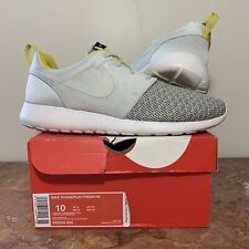 sneakers for cheap 21244 083e8 Nike Roshe Run Premium 525234-008 Grey Yellow Mens 10 Running Shoe Sneaker
