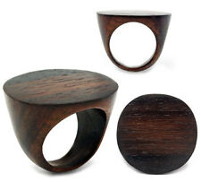 CIRCLE Top Finger Ring Solid Sono Wood
