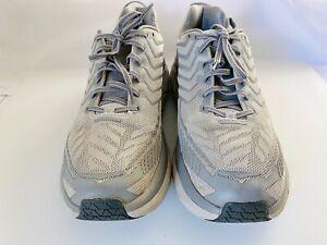 RARE HOKA One X Outdoor Voices Men US 10.5 Clifton 4 Silver Running Shoe 1108409