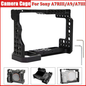 Camera Cage Rig Protective Frame 1/4in 3/8in Screw for Sony A7RIII/A9/A7III DSLR