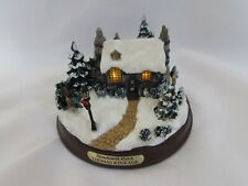 "Thomas Kinkade ""Stonehearth Hutch"" Lighthouse Cottage Collectors Figurine Works"