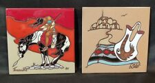 2! Masterworks & Teissedre Handcrafted Wall Art Tiles Coasters Trivets Southwest