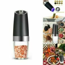 Stainless Steel Spice Shaker Electric Pepper Grinder Automatic Salt Mill AU