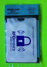 10 Pack of Aluminum RFID Smart Card Credit/Debit card Blocking Sleeves Free Flag