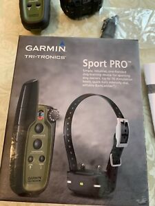 Garmin sport pro dog training system used 3 hours, Please Read