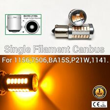 1156 BA15S 7506 P21W 12821 SMD Canbus LED Amber Rear Turn Signal Light M1 AR