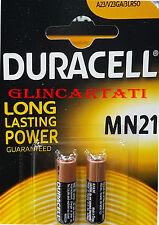 2 Batteria Alcalina Duracell MN21 12V A23 V23GA 3LR50 Alkaline Microstilo Stilo