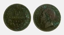 s277_30) VITTORIO EMANUELE II (1861-1878) 10 Centesimi 1867 N