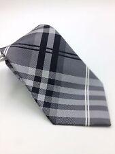 $100 GEOFFREY BEENE Men GRAY BLACK DRESS CHECK TIE CLASSIC SLIM NECKTIE 58X3.25