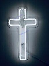 "New Jesus Cross Christ Neon Light Sign 14"" Lamp Beer Pub Acrylic Real Glass"