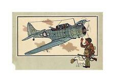HERGé/TINTIN 195x  CHROMO L AVIATION 1939/45  N°29 BE-
