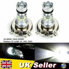 2x H4 100W 20SMD 6000K Cree LED Bulb Super Bright Fog Headlight OE#HB2 9003 UK