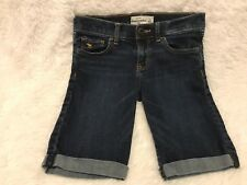 ABERCROMBIE & FITCH KIDS Girl's Denim Jeans Bermuda Shorts SIZE 14