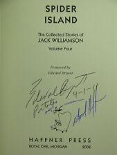 1st,3 signatures(JW,intro)Collected Stories Jack Williamson 4:Spider Island(2002
