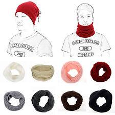 DONNA UOMO MODA SCIARPA SCIALLE INFINITY GIRI intrecciato headkerchief MAGLIA