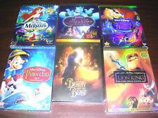 Disney DVD Lot: 6pc  Beauty &  Beast, Aladdin, Peter Pan Sleeping Beauty & more